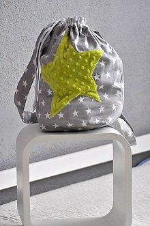 Detské tašky - Batôžtek hviezda, srdiečko 35X30 - 6530293_