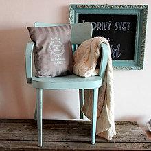 Nábytok - Mentolková vidiecka stolička - predaná - 6530400_