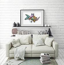 Grafika - Motýle - farebná verzia - 6532646_