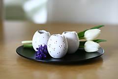 - set 3 vajíčok - svietnik, váza, korenička II. - 6534553_