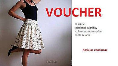 Darčekové poukážky - voucher - skladaná sukňa - 6535594_