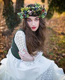 """Ozdoby do vlasov - Prírodný venček """"tam, v lesných zákutiach"""" - 6537528_"""