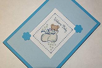 Papiernictvo - Welcome baby - chlapček - 6537539_