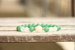 Náramky - Náramok zelený jadeit - 6535242_