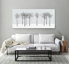 Grafika - Vtáčí les - zima - 6536663_