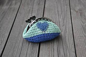 Peňaženky - Peňaženka s riflovým srdiečkom - 6536437_
