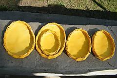 Dekorácie - Žlté vajíčkové podnosy - 6538446_