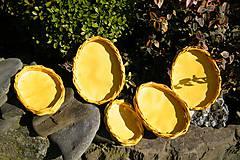 Dekorácie - Žlté vajíčkové podnosy - 6538450_