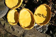 Dekorácie - Žlté vajíčkové podnosy - 6538451_
