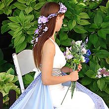 Ozdoby do vlasov - venček víly Levandulíny, typ 62 - 6542279_