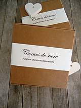 Dekorácie - Srdiečka biele - sada Coeurs de sucre - 6542240_