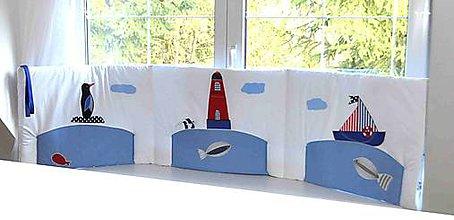 Úžitkový textil - Vreckár na stenu z kolekcie Námorník 50x205cm - 6542451_