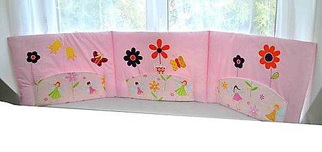Úžitkový textil - Vreckár na stenu z kolekcie Kvetinková Víla 50x205cm - 6542467_
