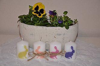 Svietidlá a sviečky - Sviečky so zajačikmi - 6542415_