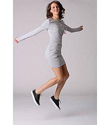 Šaty - Pohodlné teplákové šaty - 6538998_