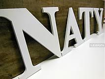 Tabuľky - 15cm NATY...drevené písmená - 6538751_
