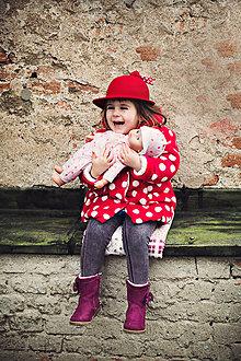 Čiapky - Detský dievčenský klobúčik kolekcia Jolie - 6540643_