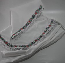 Iné oblečenie - Zásterka so šatkou Folk - 6539291_