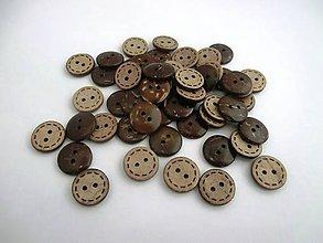 Galantéria - Drevený gombík 15 mm - 6541412_