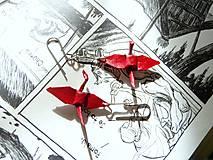 Náušnice - Jeřábci červení - 6539479_