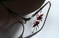 Náušnice - Jeřábci tmavě rudí - 6539516_