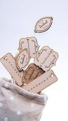 Iné doplnky - Drevené označovače, tagy, štítky HANDMADE 20ks - 6542537_