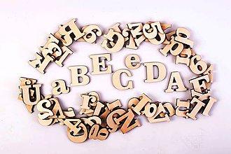 Polotovary - Štýlové drevené písmená - Clarendon - 6542291_