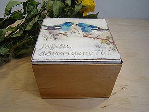 Krabičky - kresťanské - krabička vtáčiky - 6540332_