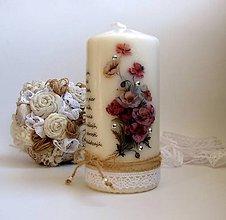 Svietidlá a sviečky - Vintage štýl sviečka maky - narodeniny - 6541542_