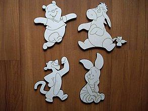 Materiál ručne robený - Detské dekorácie z dreva - macko Pu - 6540274_