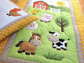 Textil - Deka a vankúšik do postieľky - Farma - 6539203_