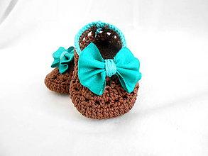 Topánočky - Hnedé balerínky - 6538875_