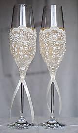Nádoby - Svadobné poháre Luxus - 6541060_