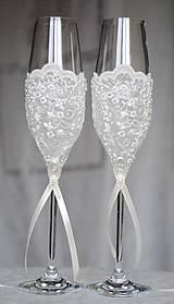 Nádoby - Svadobné poháre Luxus - 6541061_
