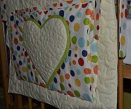 Textil - Vreckár so srdiečkom - 6541719_