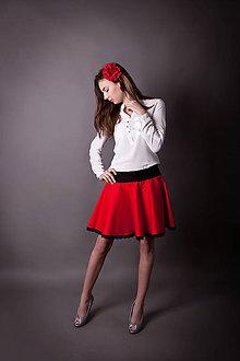Sukne - *Suknička rudá kolová s krajkou* - 6545803_