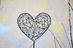 Dekorácie - Srdce. Zápich. - 6546003_