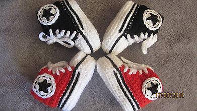 Topánočky - Háčkované tenisky - 6544459_