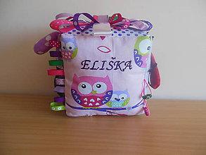 Hračky - Montessori Látková kocka na hranie Eliška - 6543740_