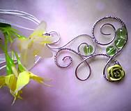 jarné zelenkavé - náhrdelník