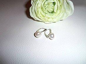 Náušnice - perly náušnice v striebre - 6543905_
