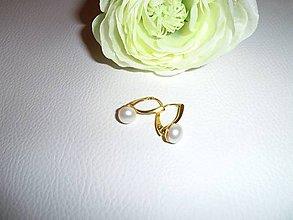 Náušnice - riečne perly náušnice striebro - 6543963_
