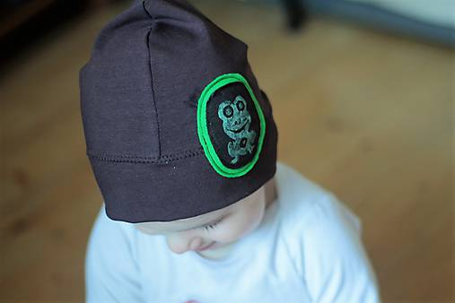 61d5b2d87 Detská čiapka so žabkou / vimba - SAShE.sk - Handmade Detské čiapky