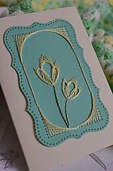 Papiernictvo - Pohľadnica - tulipány - 6543090_
