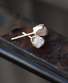 Náušnice - Zlaté náušnice s diamantami, 18 karátov - 6548785_