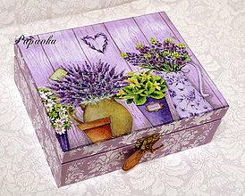 Krabičky - Fialová levanduľová - 6547850_