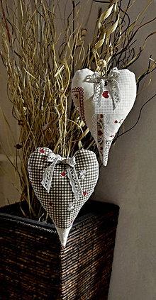 Dekorácie - srdiečka voňavé -folk 2 ks - 6549888_