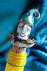 - zátka na fľašu - klaun modrý  - 6549060_