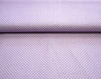 Textil - Látka fialková bodkovaná - 6550584_
