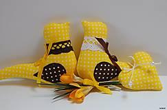 - Vtáčik na zavesenie žlto - hnedý - 6549254_